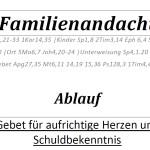 Familienandachtsleitfaden
