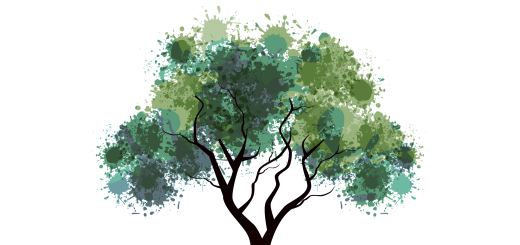 illustration-of-a-green-tree-with-grungy-effects-and-mirror-image-isolated-_z1rTHsi_